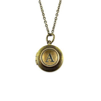 Personalized Letter Initial Locket Necklace