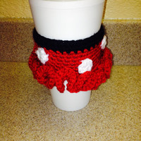 Crochet Minnie Mouse Coffee Cup Cozy