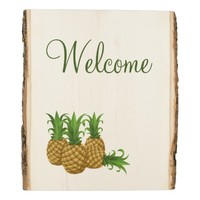 Welcome Pineapples Wood Panel