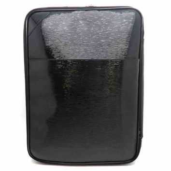 Auth Louis Vuitton Patent Leather Epi Pegase 55 Suitcase Black M4035N