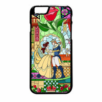 Rose Beauty And The Beast Disney Stained Glass iPhone 6 Plus Case