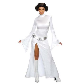 STAR WARS Cosplay Princess Leia Organa Solo Dress Belt Costume Adult Child Leia Cosplay Dresses