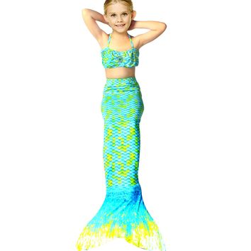 summer girls dress the little mermaid tail princess ariel dress cosplay beach swimsuit costume for girl fancy halloween dress