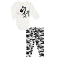 Koala Baby Girls 2 Piece Bodysuit and Legging Set
