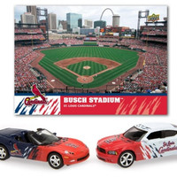 Upper Deck St. Louis Cardinals 2008 MLB Dodge Charger and Chevrolet Corvette with Stadium Card