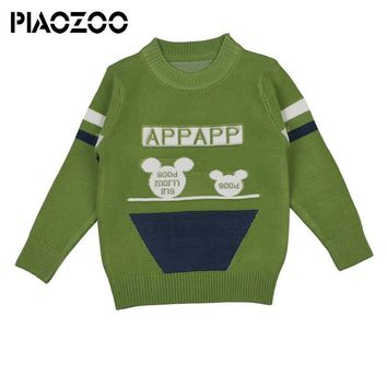 Toddler boy winter sweater cartoon design baby knitted casual baby boy pullover boys new winter tops Clothes 1-4Years P40