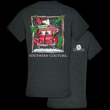 Southern Couture Preppy Present Truck Holiday T-Shirt