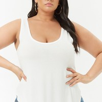 Plus Size Curved-Hem Tank Top
