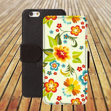 iphone 5 5s case Flowers Element  iphone 4/ 4s iPhone 6 6 Plus iphone 5C Wallet Case , iPhone 5 Case, Cover, Cases colorful pattern L122