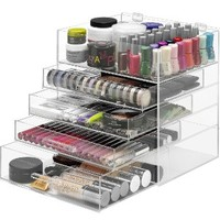Whitmor Extra Large 5 Tier Acrylic Cosmetic and Accessory Organizer 6477-5512