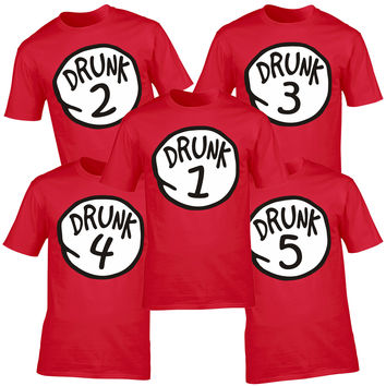 123t USA Men's Drunk Please Message Us Which Drunk You Would Like Funny T-Shirt