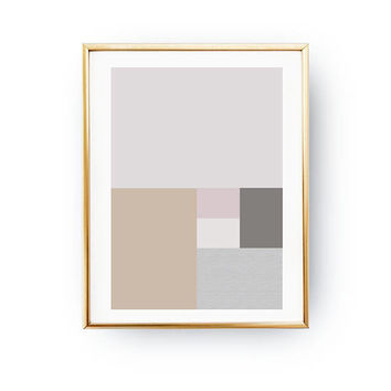 Rectangles Print, Modern Shapes, Abstract Poster, Textured Pastel Decor, Simple Design, Pink Pastel Art, Geometric Textures, Minimal Poster