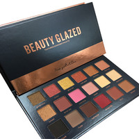2017 Brand New Beauty Glazed 18 Colors Rose Gold Textured Eyeshadow Palette Makeup Contour Metallic Eye Shadow Palette