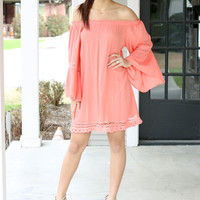 When in Rome Dress - Coral