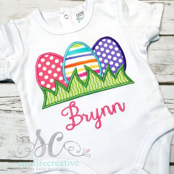 Girls Easter Shirt - Easter Shirt for Girl - Easter Egg Hunt Outfit- Cute Girl Clothes - Personalized Girl Clothes - Clothing for Girls
