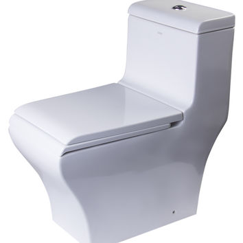 EAGO TB356 DUAL FLUSH ONE PIECE ECO-FRIENDLY HIGH EFFICIENCY LOW FLUSH CERAMIC TOILET