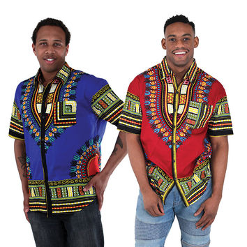 Men's Dashiki Button Up Shirt