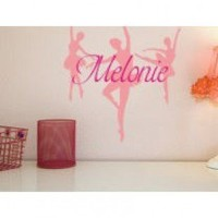 Alphabet Garden Designs Personalized Dance Wall Decal - child052 - All Wall Art - Wall Art & Coverings - Decor