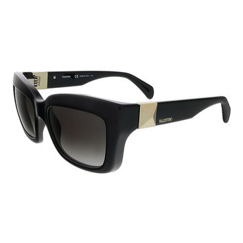 Valentino Black Rectangular Valentino Sunglasses