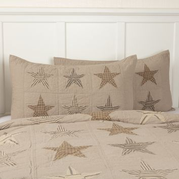 Sawyer Mill Star Charcoal Shams