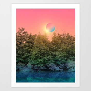 Landscape & gradients IX Art Print by vivianagonzalez
