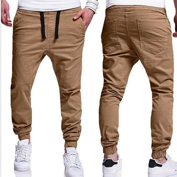INCERUN 2017 Men Leisure Causal Harem Pants New Fashion Hip Hop chinos Trousers Joggers Cotton Sweatpants Elastic Cuff