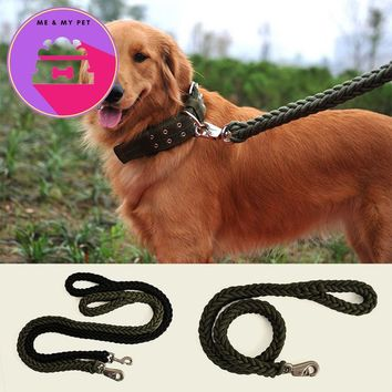 Pet Leashes Solid Nylon Dog Pet Leash Medium-sized Large Dogs Lead for Daily Walking Small Dog Trainning