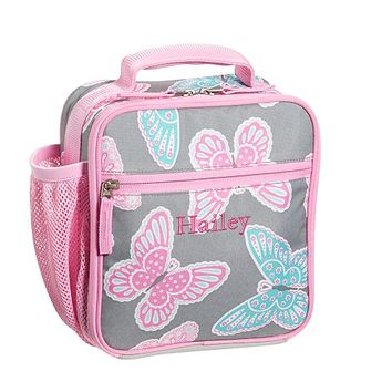 Mackenzie Gray Butterfly Lunch Bags | Pottery Barn Kids