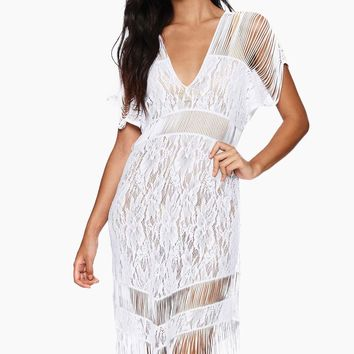 Indian Summer Lace Dress - White