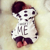 Newborn baby boy Long sleeve romper clothing jumpsuit toddler suit infant cloth