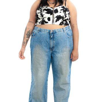 Vintage 90's Glitter Glam Mom Jeans - 3X