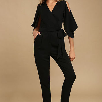 Adelyn Rae Hold Tight Black Jumpsuit