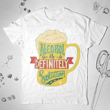 Alcohol Party Drinking Beer Unisex Shirt Top Tee