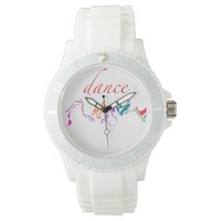 """dance"" Abstract Word Art Watches"
