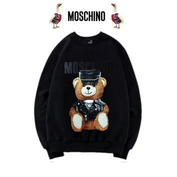 Moschino Cute Bear Print Top Sweater Pullover