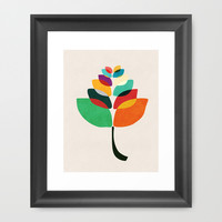 Lotus flower Framed Art Print by Budi Satria Kwan