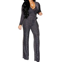Sparkling Silver Jumpsuit |  Luxury Online Boutique| 045763