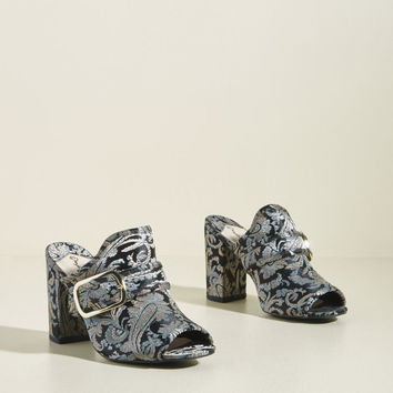 Brocade to Love You Peep Toe Block Heel