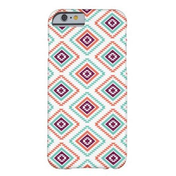 Tribal Ikat Diamond Aztec Pattern Barely There iPhone 6 Case