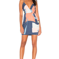BCBGeneration Abstract Dress in Multi Combo | REVOLVE