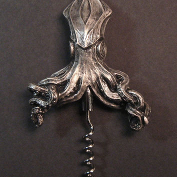 Kraken Corkscrew by Dellamorteco on Etsy