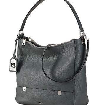 Lauren Ralph Lauren Morrison Double Zip Hobo Bag