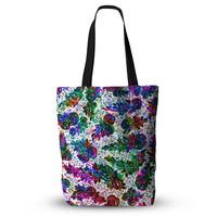 "Ebi Emporium ""Prismatic Posy II"" Rainbow Floral Everything Tote Bag"
