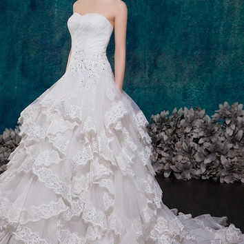 wedding dresses 2015 new wedding dress lace straps bride wedding dress bridal gown
