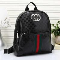 Perfect Gucci Women Men Tiger Print Leather Shoulder Bag Backpack