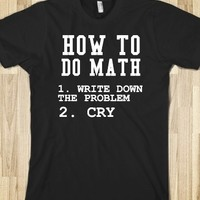 Supermarket: How To Do Math from Glamfoxx Shirts