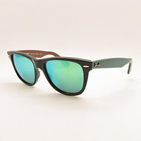 Cheap Ray Ban Wayfarer 2140 1175/19 Black Green Mirror New Authentic Buyer Picks Size outlet