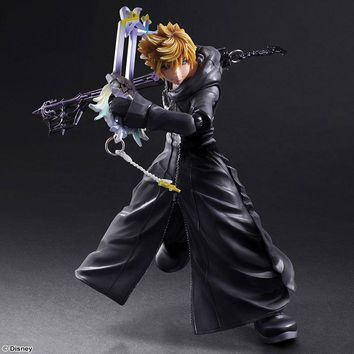 Kingdom Hearts Play Arts Kai Sora PVC Action Figure Toy 26cm Movie Game Anime Kingdom Hearts II Roxas Playarts Kai