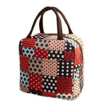 MDIGYN5 Thermal Insulated Tote Picnic Lunch Cool Bag Cooler Box Handbag Pouch #6m