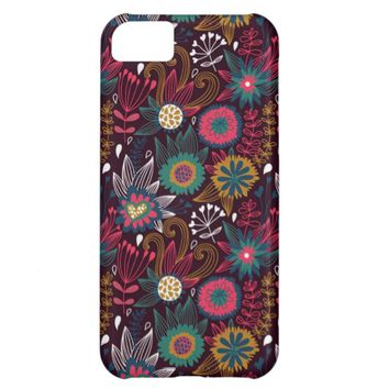 Colorful Modern Floral Pattern iPhone 5C Case
